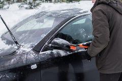 汽车在冬天 库存照片