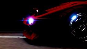 汽车在晚上 免版税库存照片