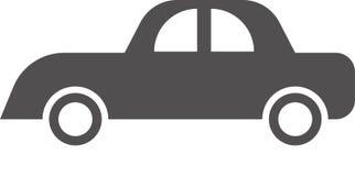 汽车在白色背景的商标传染媒介 向量例证