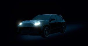 汽车在黑暗中 免版税库存图片