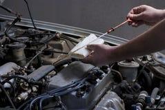 汽车垂度机器润滑油棍子 免版税库存图片