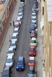 汽车城市好停放的小 免版税库存照片
