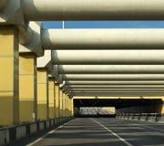 汽车城市隧道 免版税图库摄影