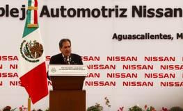 汽车墨西哥新的日产种植 免版税库存图片