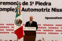 汽车墨西哥新的日产种植 免版税图库摄影
