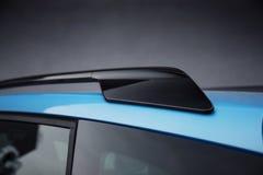 汽车外部:在SUV的屋顶路轨 免版税图库摄影