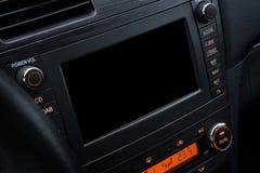 汽车多媒体系统大模型 免版税库存照片