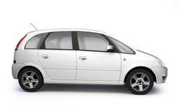 汽车多目的侧视图白色 免版税库存照片
