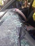 汽车失事了入事故 免版税图库摄影