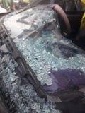 汽车失事了入事故 免版税库存照片