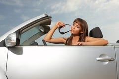 汽车女孩 免版税图库摄影