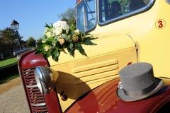 汽车婚礼 免版税库存图片