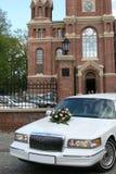 汽车婚礼 免版税图库摄影