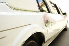 汽车婚礼 库存照片