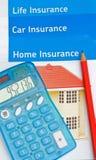 汽车家庭保险寿命 免版税图库摄影