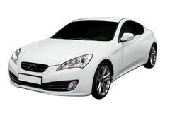 汽车小轿车快速新的白色 免版税库存照片