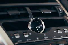 汽车屏幕多媒体系统 内部细节 免版税库存图片