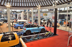 汽车展示会在贝尔格莱德, 2015年 库存照片