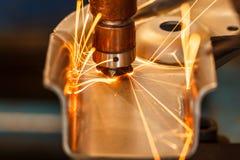 汽车工业的焊接 库存照片
