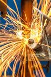 汽车工业的焊接 库存图片