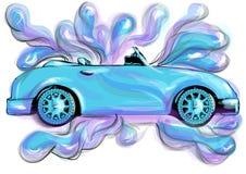 汽车干净的水管设备海绵洗涤 库存例证