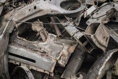 汽车废金属  免版税库存照片