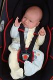 汽车座位的婴孩 免版税库存图片