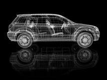 汽车建筑 向量例证