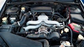汽车引擎的照片 免版税库存照片