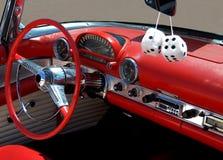 汽车彀子模糊的内部 免版税库存图片