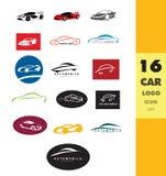 汽车形状商标集合 库存图片