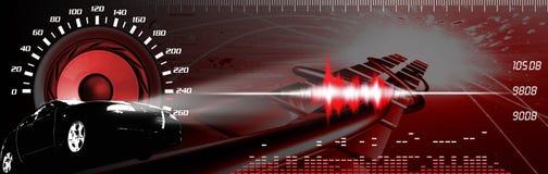 汽车性能声音 向量例证