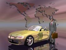 汽车成功他的销售人员 免版税图库摄影