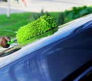 汽车打扫灰尘的混合纤维 免版税库存照片