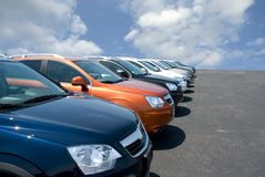 汽车批次 免版税图库摄影