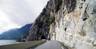 汽车挪威视域行程 免版税库存照片