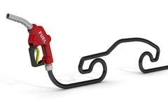 汽车换装燃料枪 库存图片