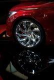 汽车接近的轮子 库存照片
