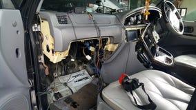 汽车控制台定象是verymessy的看起来 图库摄影