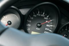 汽车控制台控制板电子仪器航海 高速概念 免版税库存图片