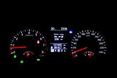 汽车控制台控制板电子仪器航海 免版税图库摄影