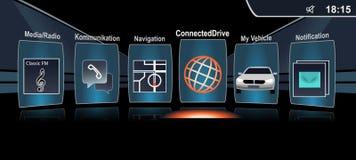汽车控制屏幕 向量例证