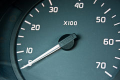 汽车控制板指示符米轮 免版税库存图片