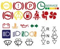 汽车控制板符号 皇族释放例证