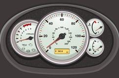 汽车控制板车速表 免版税图库摄影