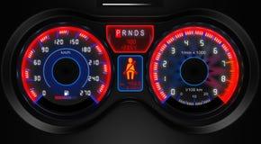 汽车控制板 库存图片