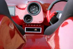 汽车控制板 图库摄影