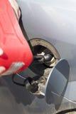 汽车故障 没有燃料 增加燃料 库存图片