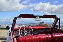 汽车敞篷车红色 图库摄影