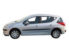 汽车新的银 免版税库存照片